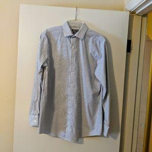 Kenneth Cole Mens striped dress shirt